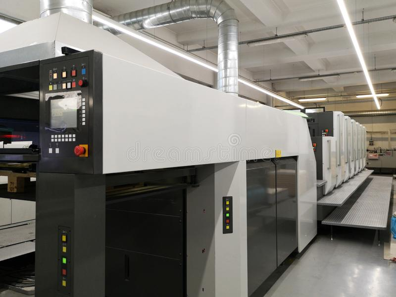 Máquina de la impresión en color cuatro foto de archivo