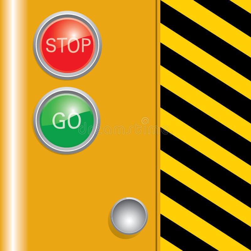 Máquina de la industria con la barra negra y amarilla. fotografía de archivo