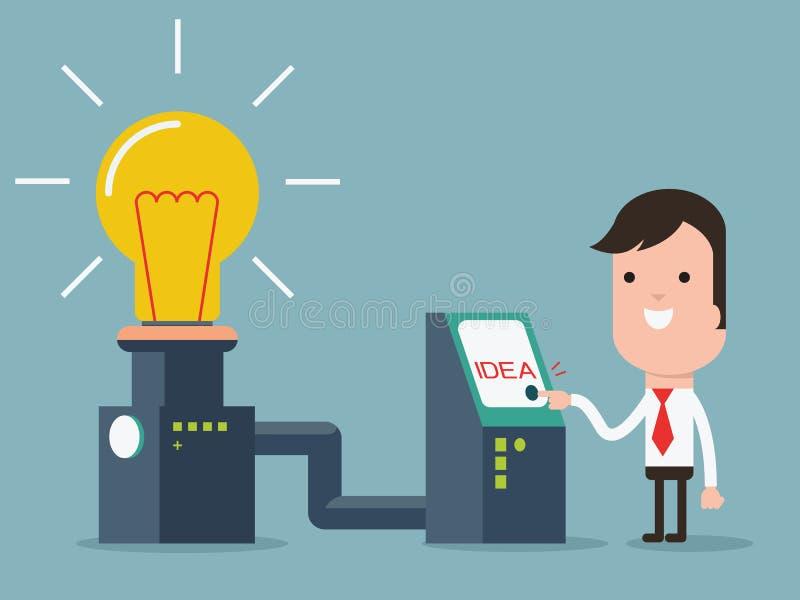 Máquina de la invención stock de ilustración
