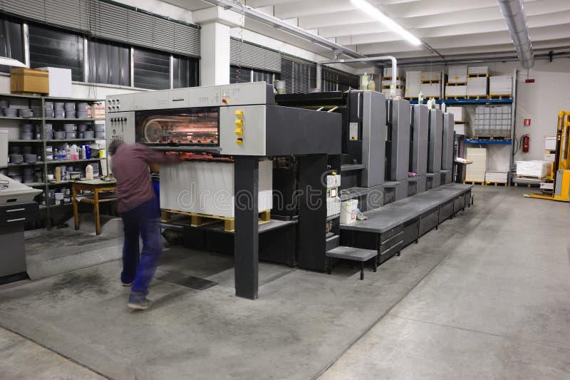 Máquina de la litografía imagenes de archivo