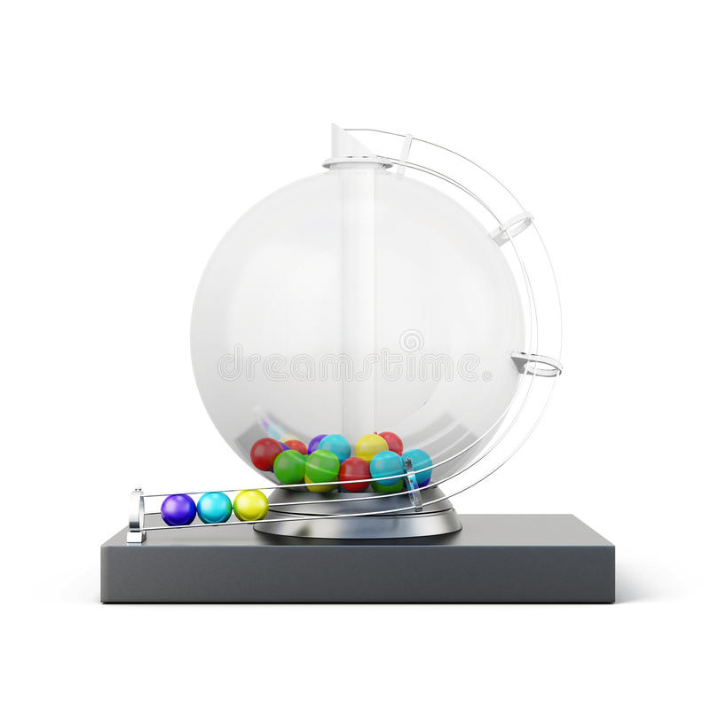 Máquina de la lotería aislada en el fondo blanco representación 3d libre illustration