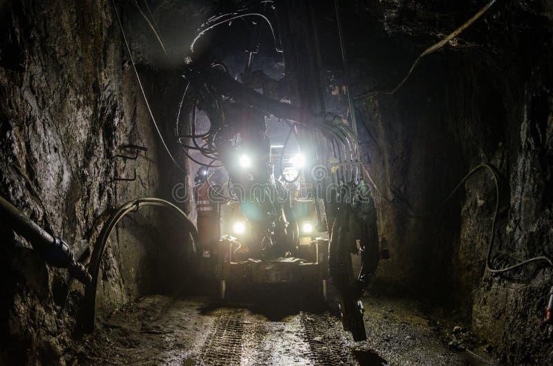 Máquina de la mina fotografía de archivo