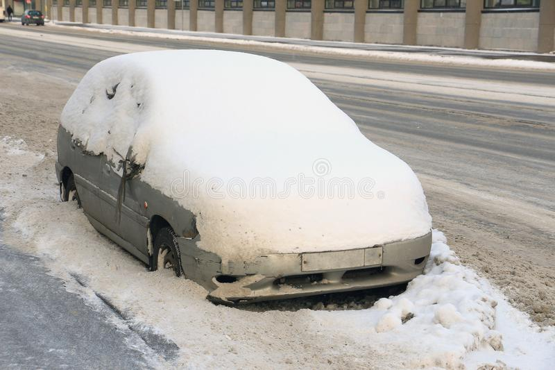 Máquina de la nieve fotos de archivo libres de regalías