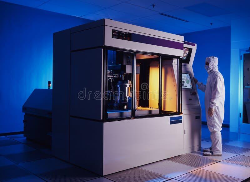 Máquina de la oblea de silicio fotografía de archivo