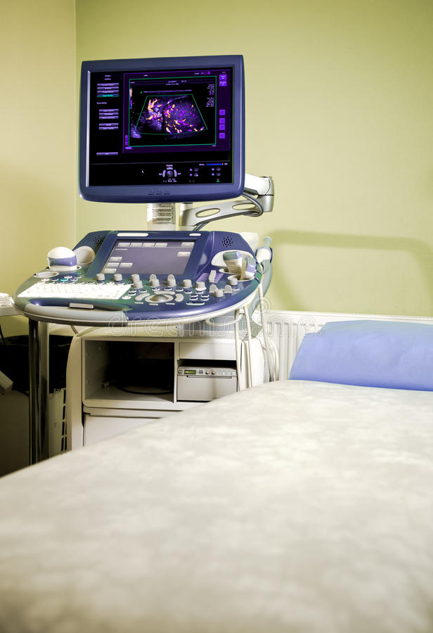 Máquina de la sonografía médica fotos de archivo