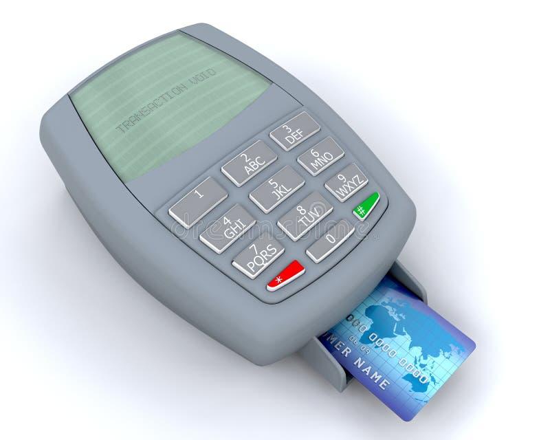 Máquina de la tarjeta de crédito ilustración del vector