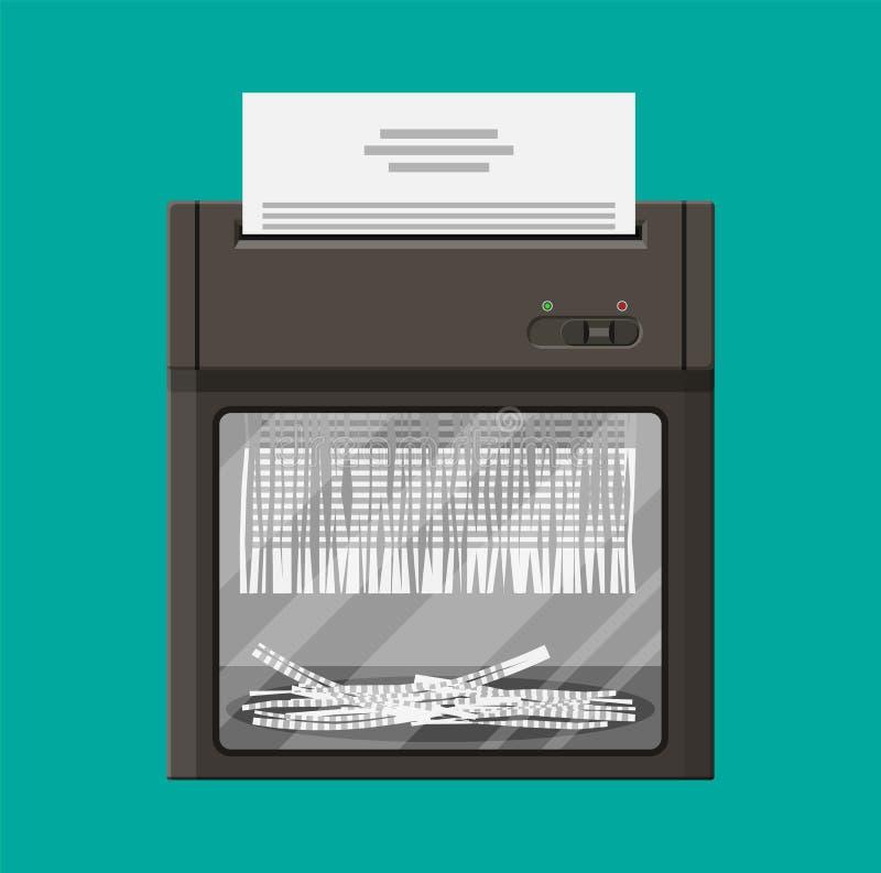 Máquina de la trituradora Estilo plano libre illustration