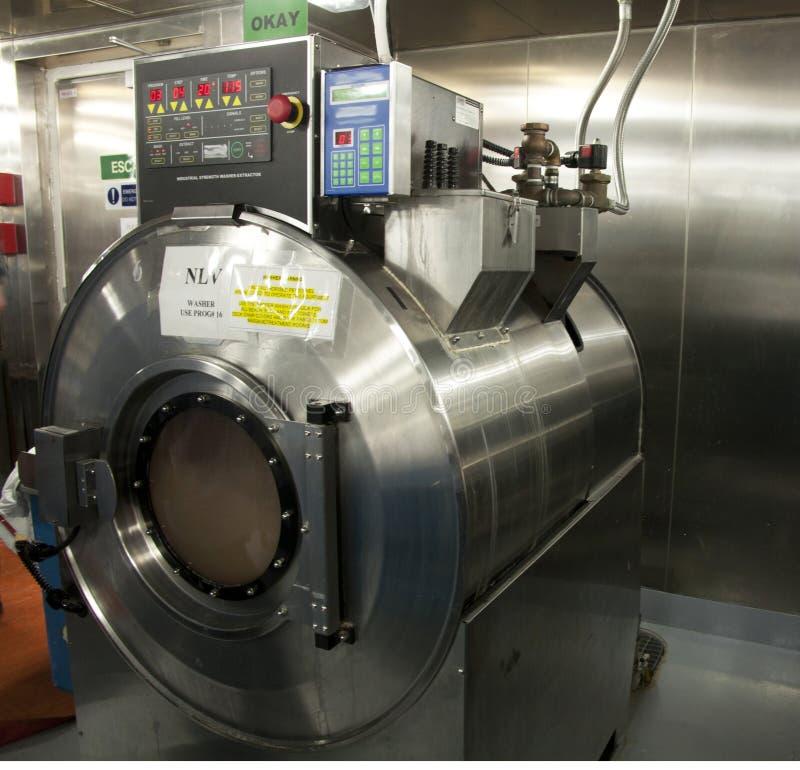 Máquina de lavar comercial fotografia de stock