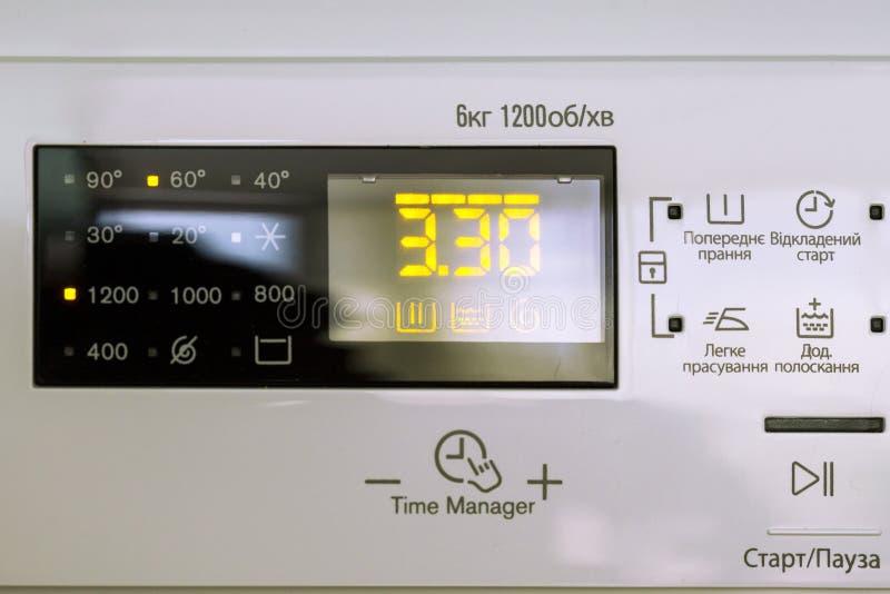 Máquina de lavar do indicador imagem de stock