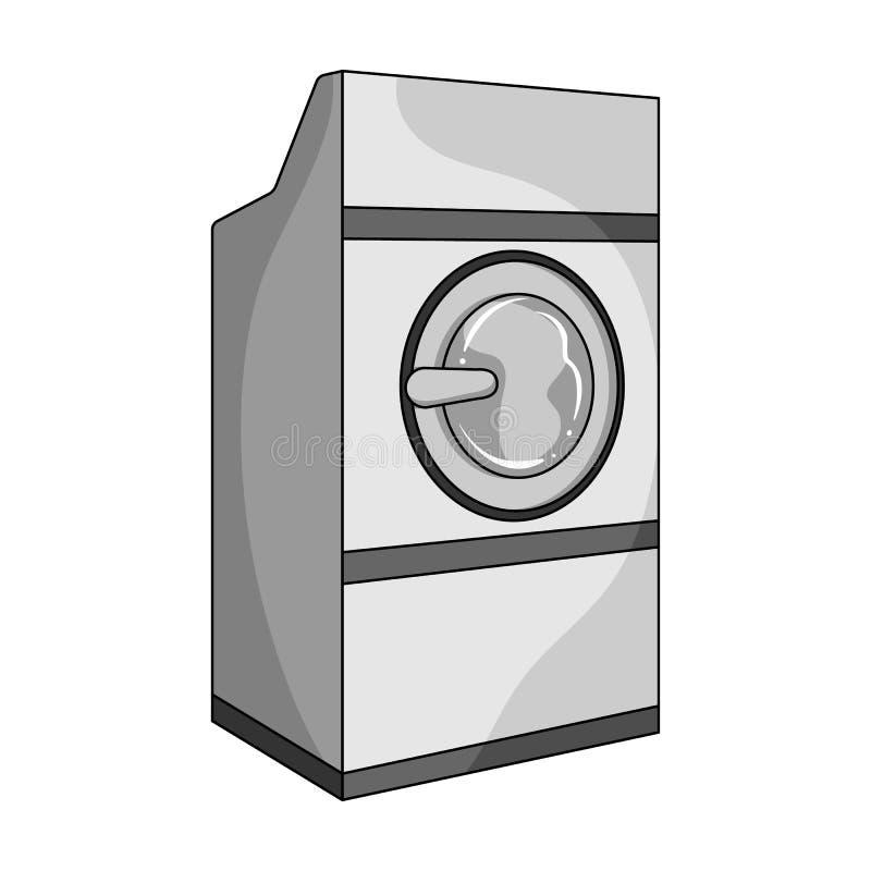 Máquina de lavar industrial Único ícone da tinturaria na Web da ilustração do estoque do símbolo do vetor do estilo do esboço ilustração do vetor