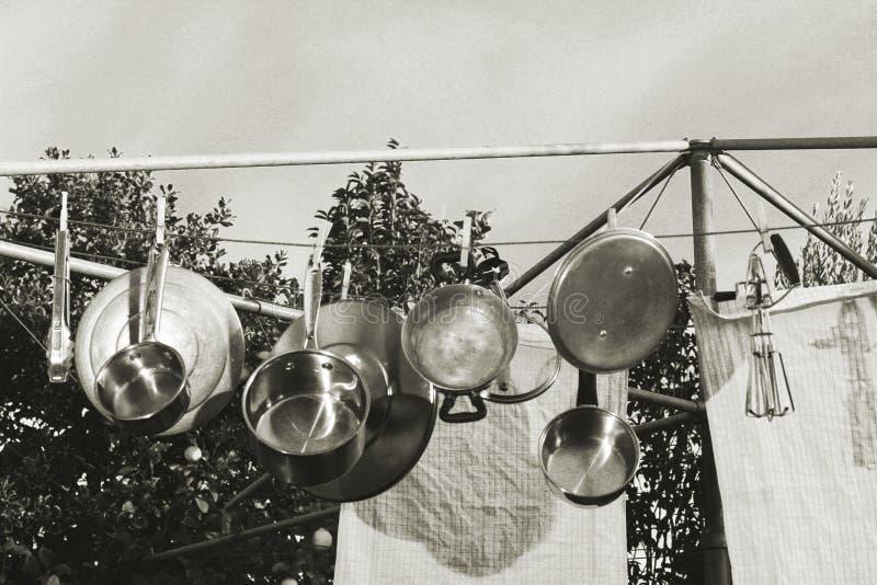Máquina de lavar louça do estilo antigo fotos de stock