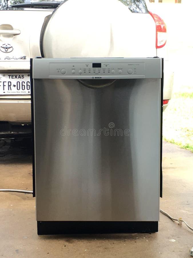 Máquina de lavar louça inoxidável de Bosch fotos de stock royalty free