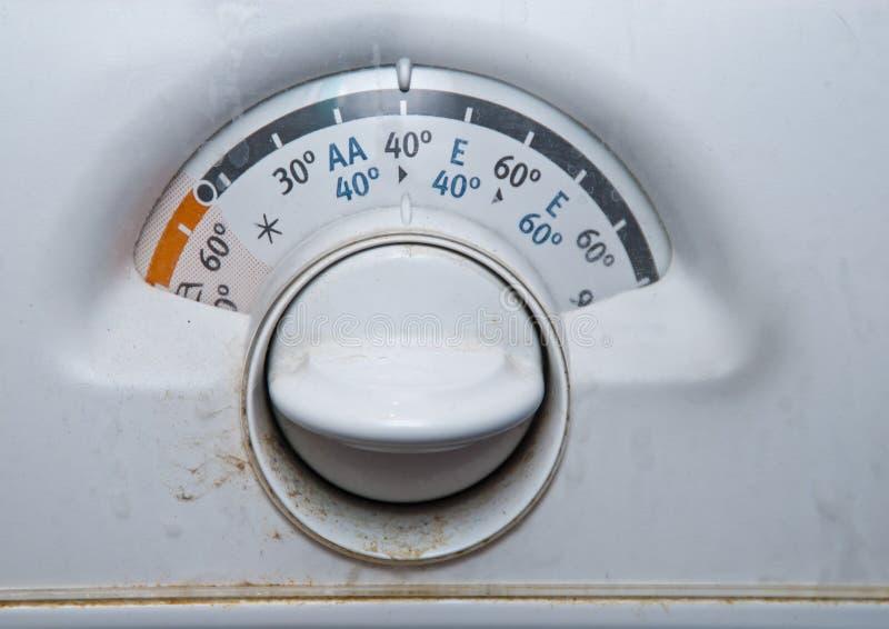 Máquina de lavar velha imagem de stock