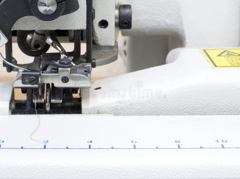Máquina de matéria têxtil fotos de stock