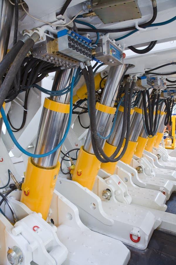 Máquina de mineração - sistema hidráulico fotografia de stock royalty free