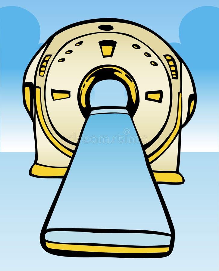 Máquina de MRI/del CT ilustración del vector