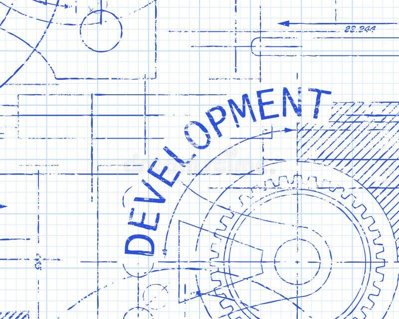 Máquina de papel de gráfico do desenvolvimento ilustração royalty free