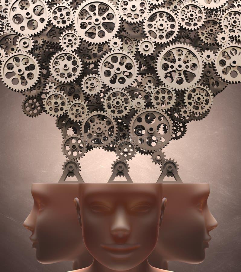 Máquina de pensamento ilustração royalty free