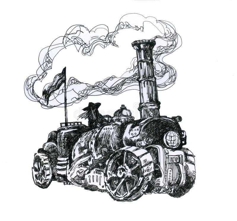 Máquina de Steampunk stock de ilustración