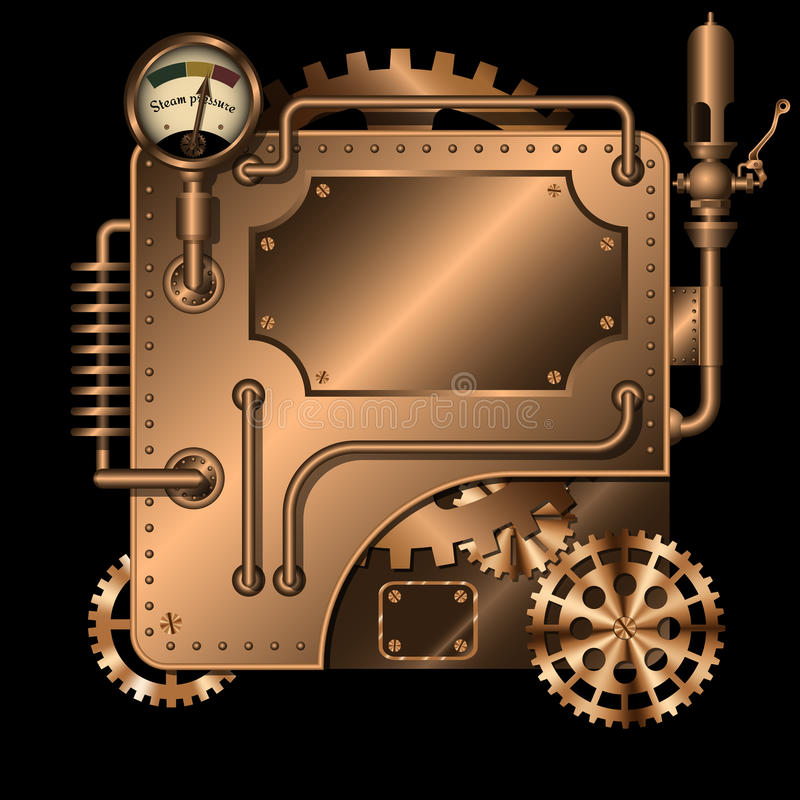 Máquina de Steampunk imagem de stock royalty free