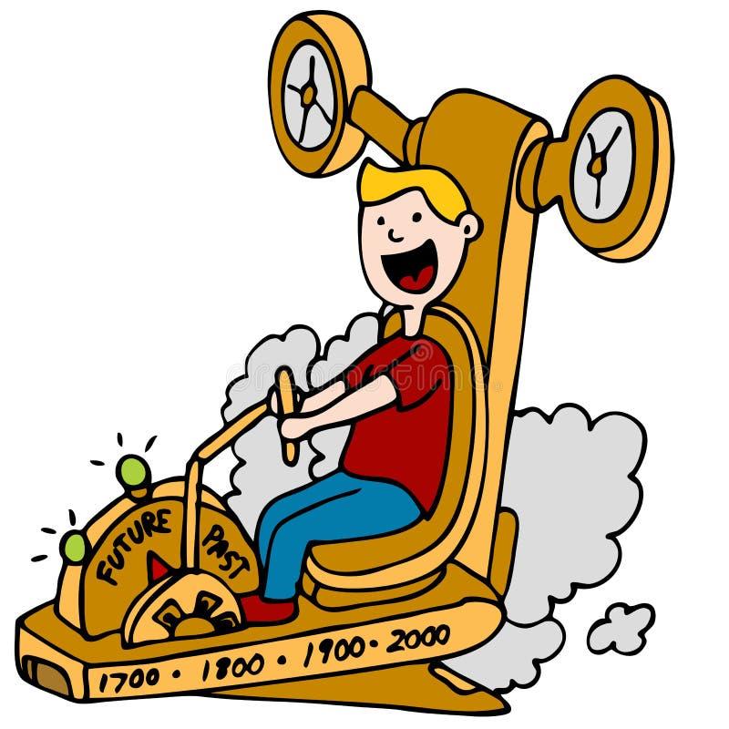 Máquina de tempo ilustração royalty free