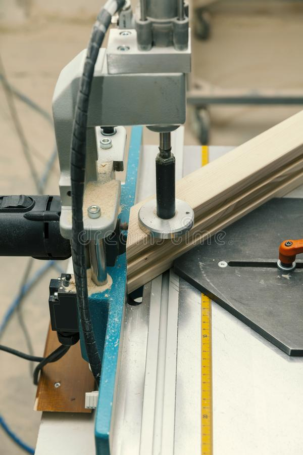Máquina de trabajo de madera imagen de archivo