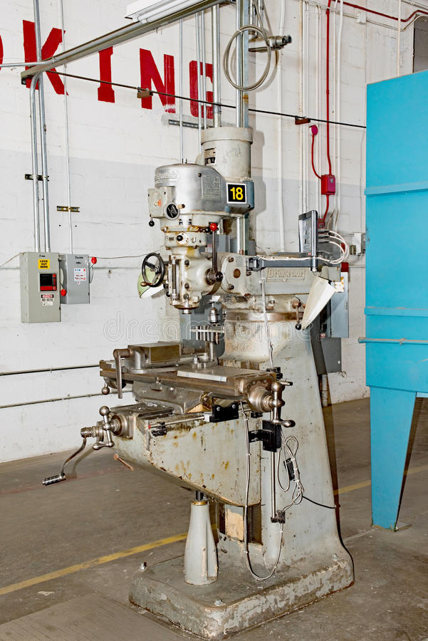 Máquina de trituração de Bridgeport foto de stock royalty free