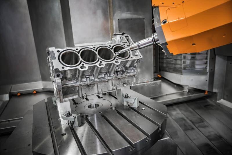 Máquina de trituração metalúrgica do CNC imagem de stock