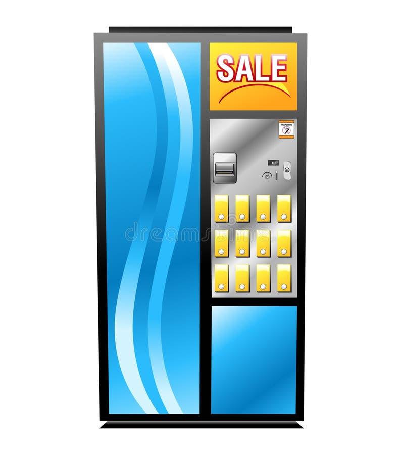 Máquina de Vending isolada colorida ilustração royalty free