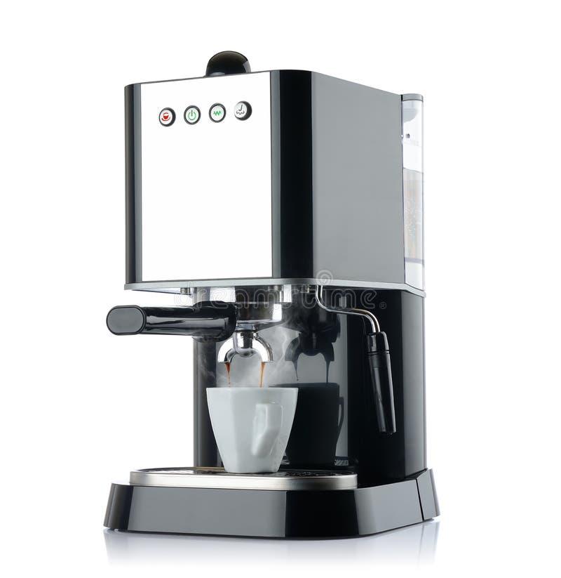 Máquina del café con una taza blanca imágenes de archivo libres de regalías