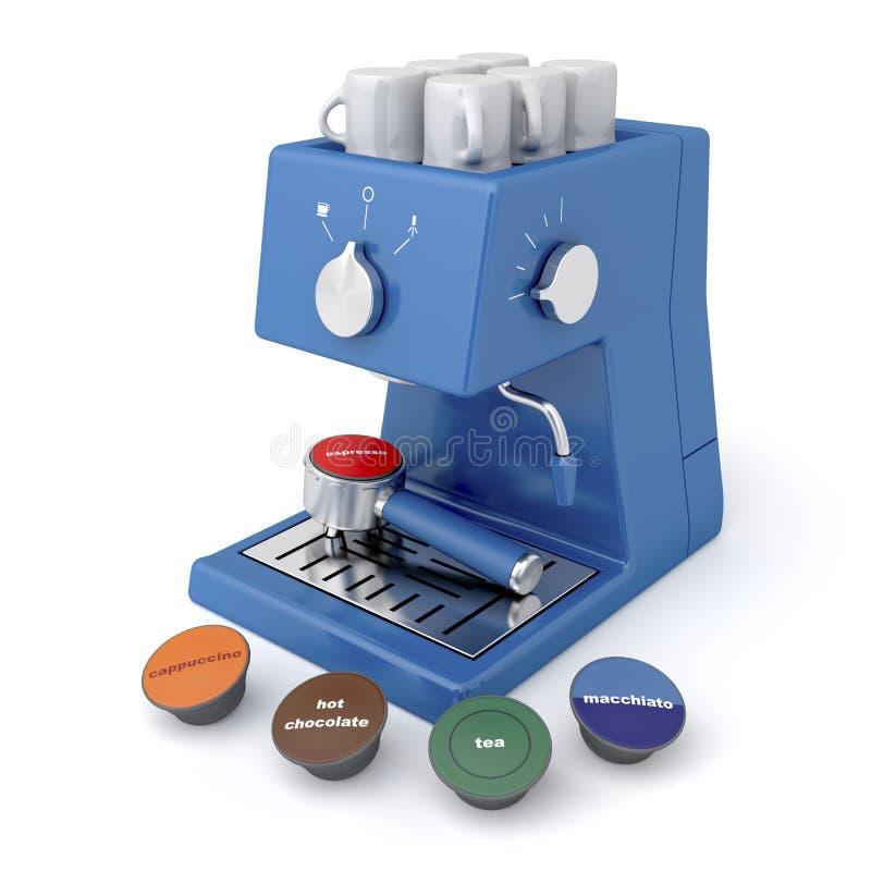 Máquina del café de la cápsula stock de ilustración