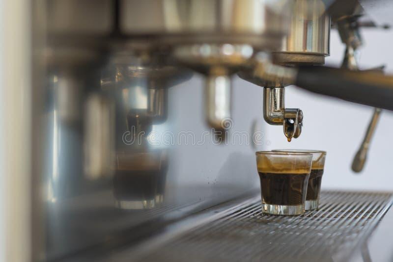 Máquina del café del café express foto de archivo libre de regalías