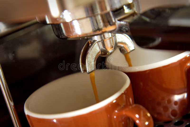 Máquina del café express fotos de archivo