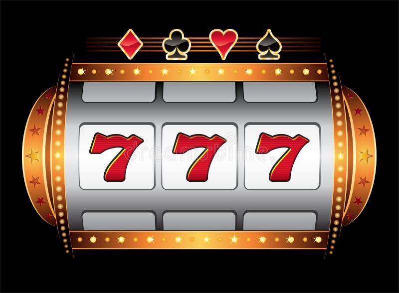 Máquina del casino ilustración del vector