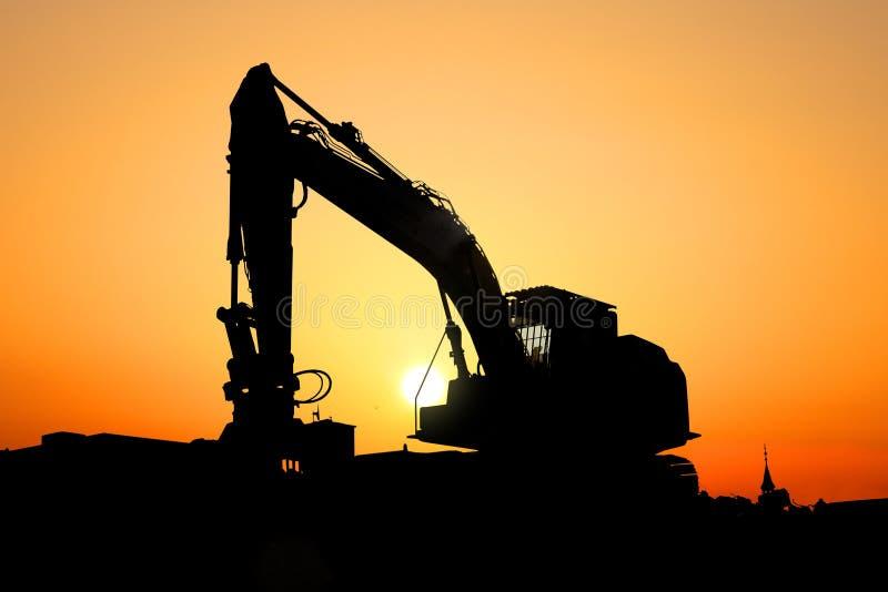 Máquina del excavador fotografía de archivo libre de regalías