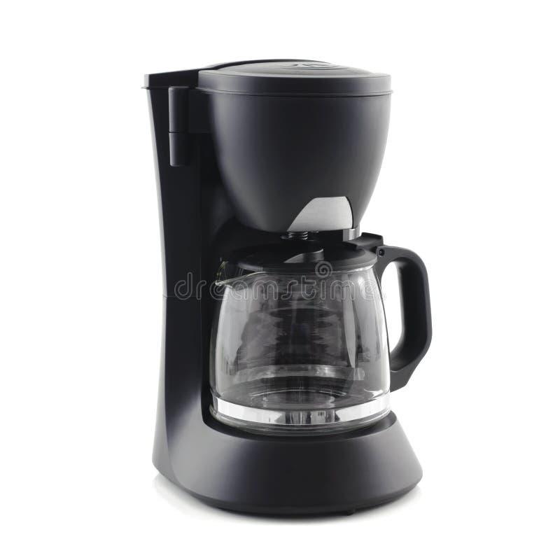 Máquina del fabricante de café aislada en el fondo blanco imagenes de archivo