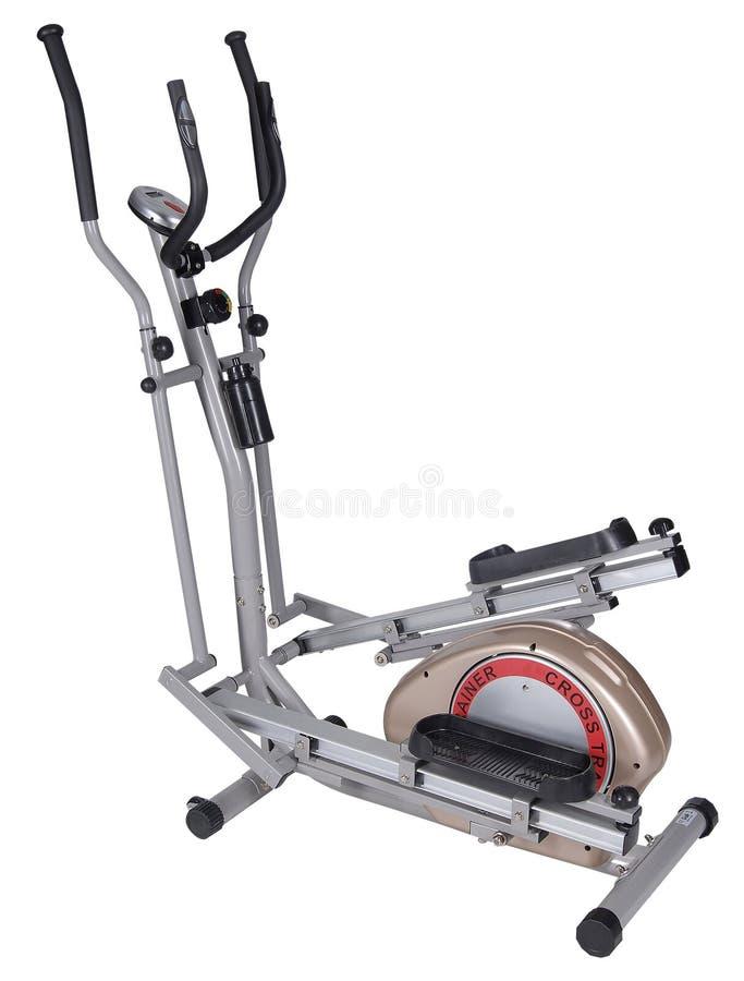 Máquina del gimnasio de Eliptical. Objeto de la salud y de la aptitud foto de archivo libre de regalías