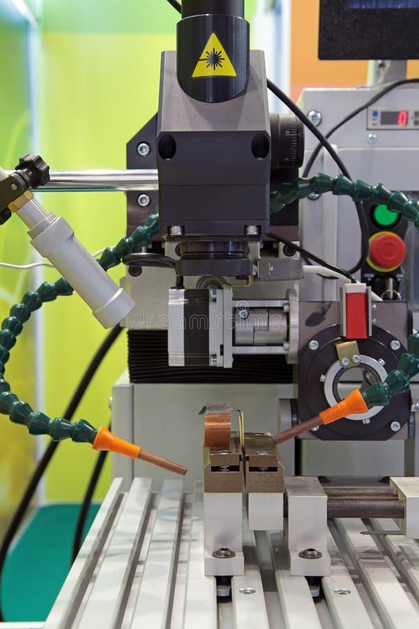 Máquina del laser imagenes de archivo