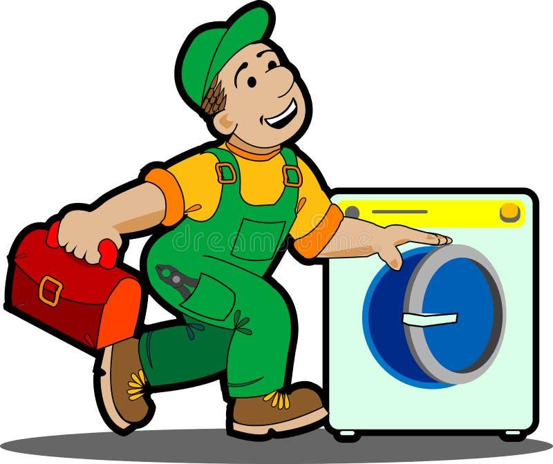 Máquina del lavadero. ilustración del vector