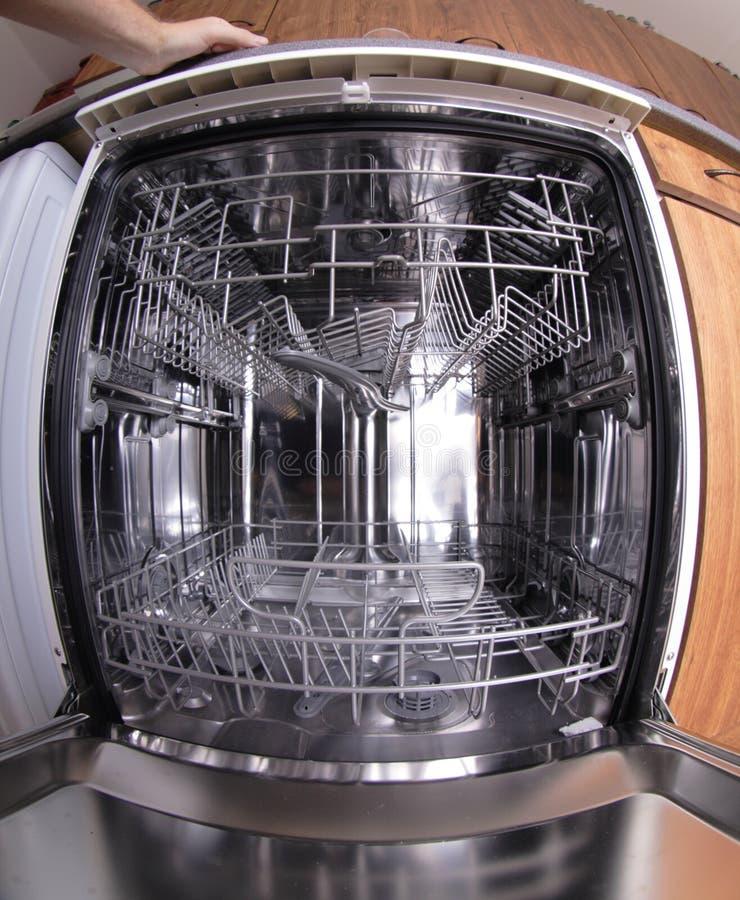 Máquina del lavaplatos fotografía de archivo libre de regalías