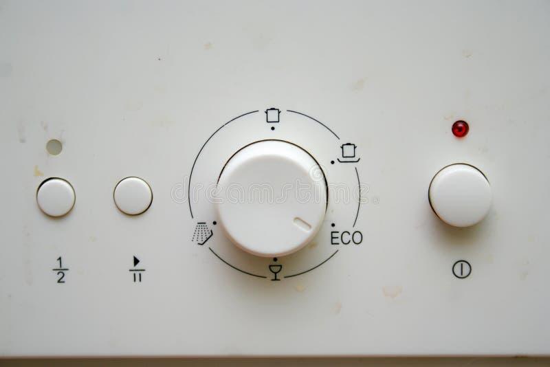 Máquina del lavaplatos fotografía de archivo