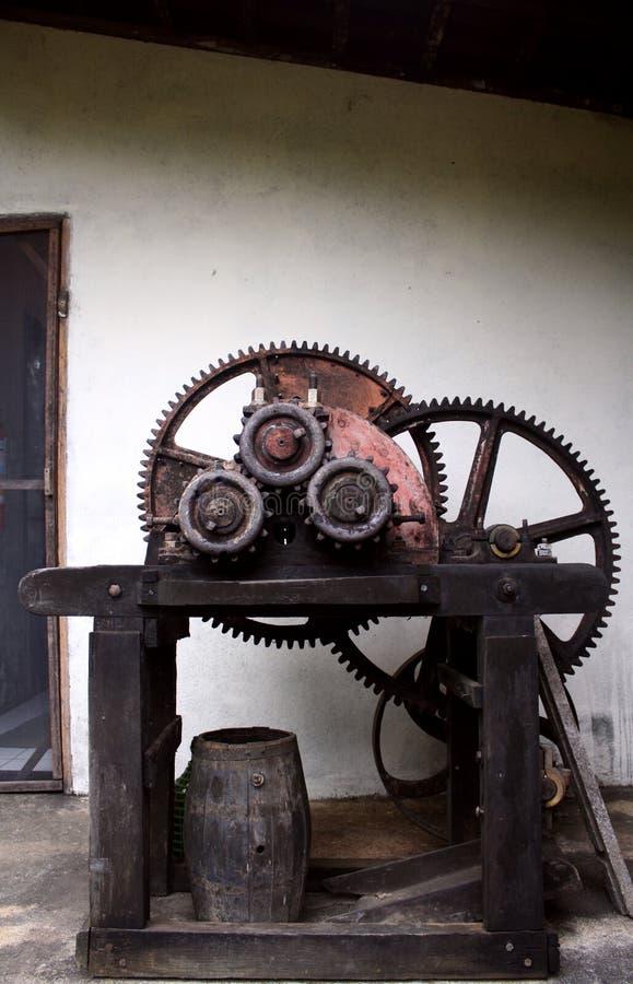 Máquina del puré de la caña de azúcar fotografía de archivo libre de regalías