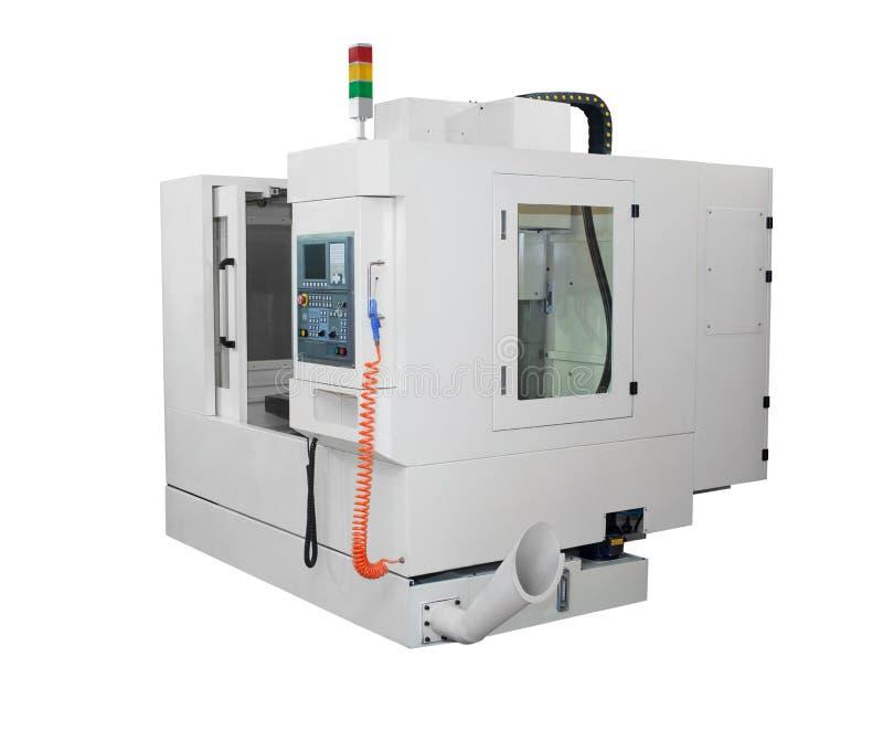 Máquina del torno del CNC fotografía de archivo libre de regalías