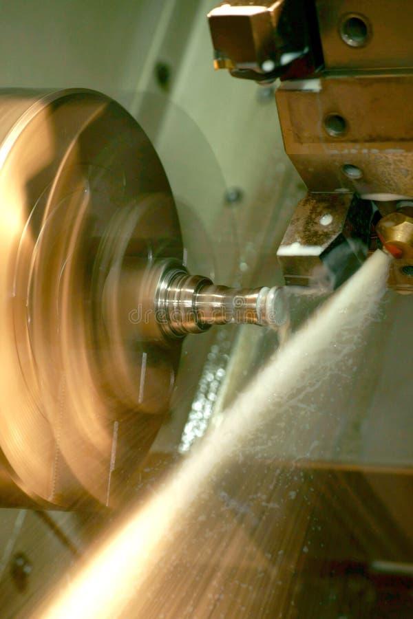 Máquina del torno del CNC imagen de archivo