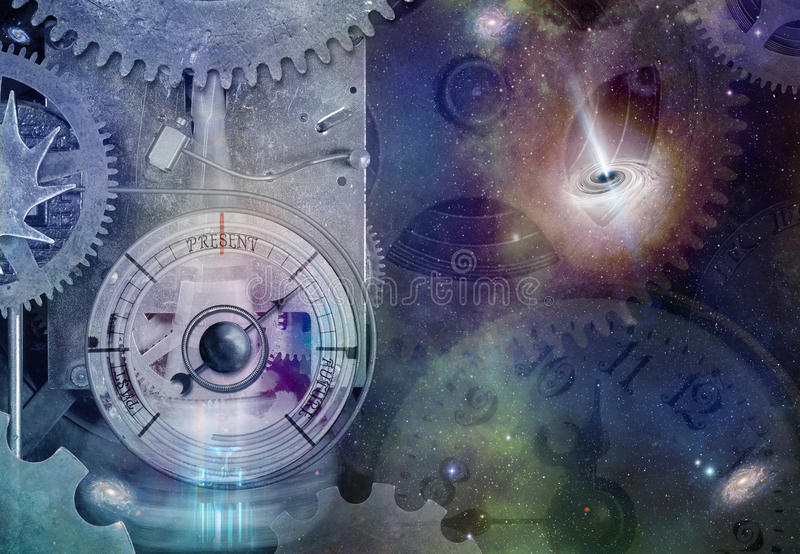 Máquina del viaje del tiempo de Steampunk imagenes de archivo