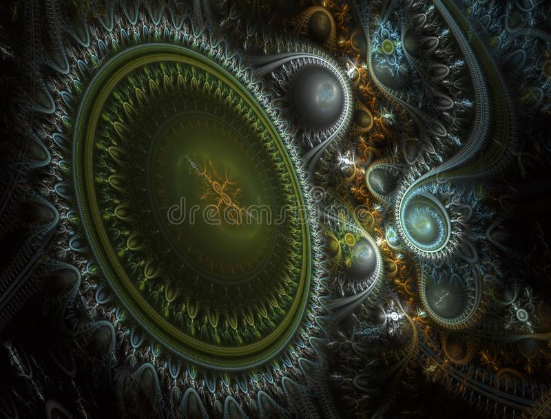 Máquina del viaje del tiempo Steampunk surrealista libre illustration