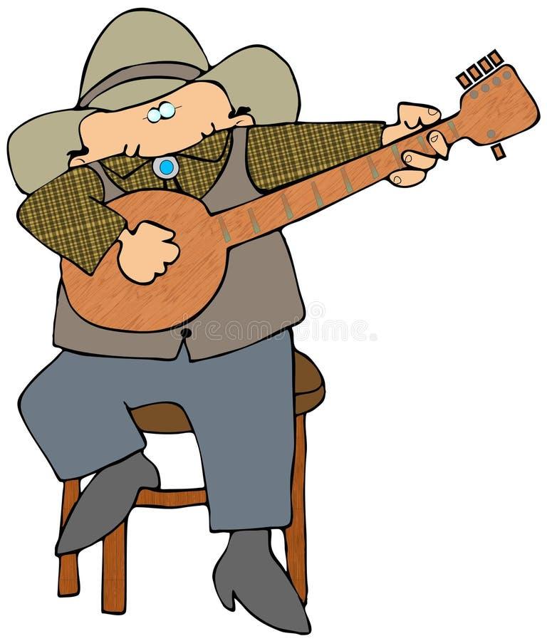 Máquina desbastadora do banjo ilustração stock