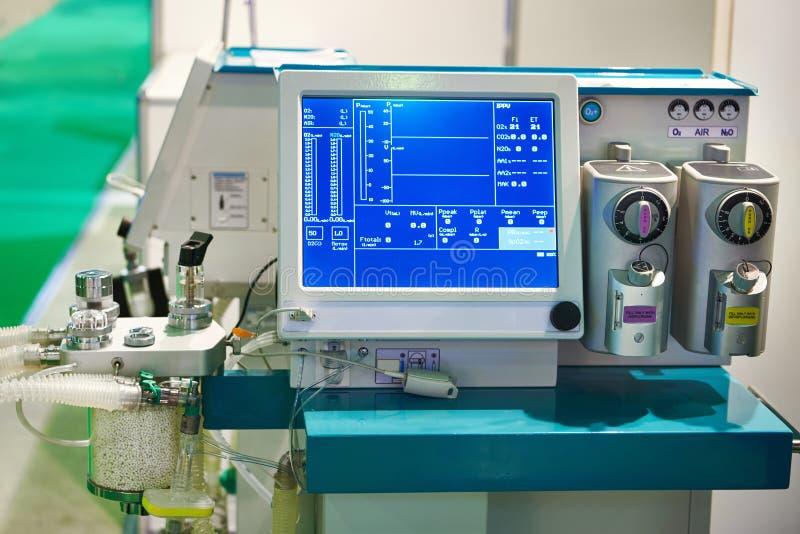 Máquina do anestésico de inalação imagem de stock