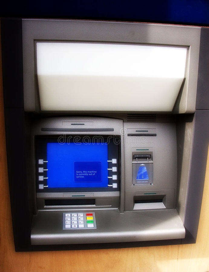Máquina do ATM foto de stock royalty free