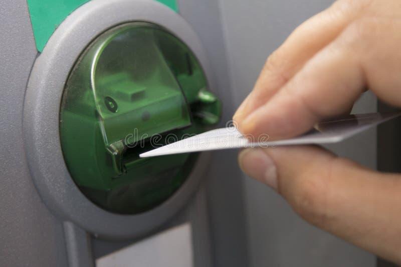 Máquina do ATM do banco foto de stock